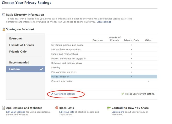 How to change your Facebook Places privacy settings
